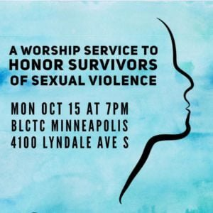 A worship service to honor survivors of sexual violence
