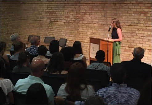 Ellie teaching at The Loft Literary Center